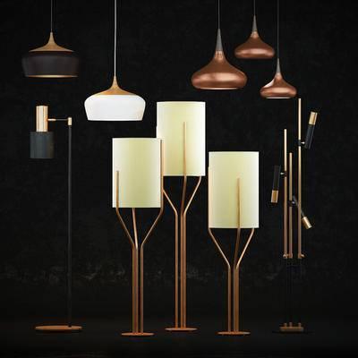 灯具, 吊灯, 落地灯, 灯, 后现代, 现代