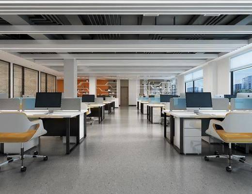 办公室, 桌椅组合, 电脑桌, 置物柜