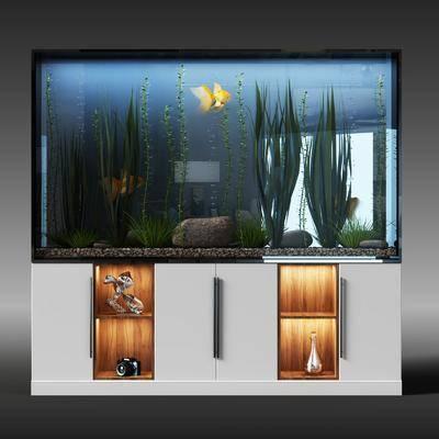 鱼缸, 水箱, 储物柜, 现代