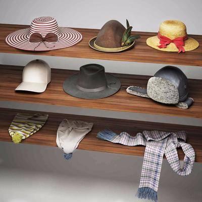 帽子, 围巾, 现代