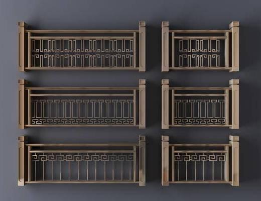 新中式, 栏杆, 围栏, 护栏