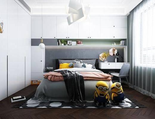 儿童房, 卧室, 床具组合, 衣柜组合, 玩具组合, 桌椅组合, 北欧