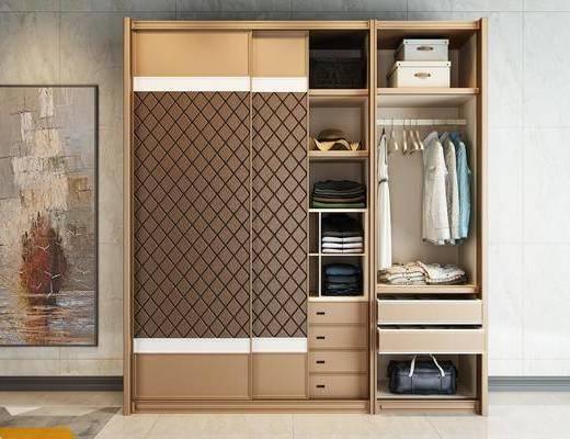 衣柜, 装饰画, 挂画, 服饰, 现代轻奢