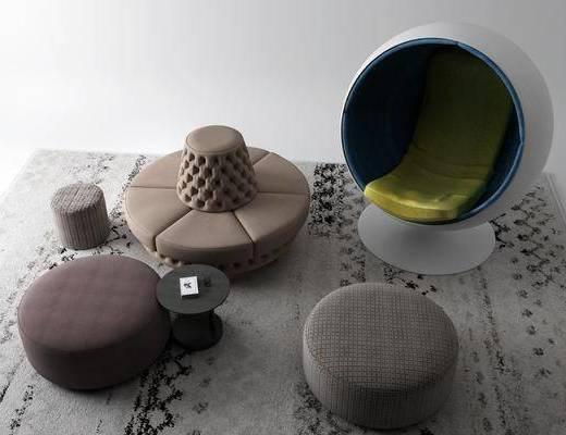 沙发凳, 单椅, 沙发