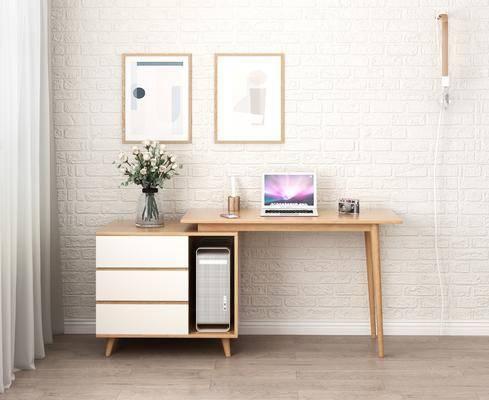 北欧书桌, 书桌, 实木书桌