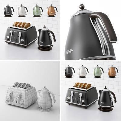 热水器, 烧水壶, 面包机, 现代, 电器