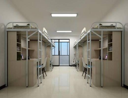 宿舍, 上下铺, 桌椅组合