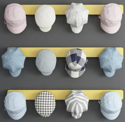 现代帽子, 帽子, 展示架