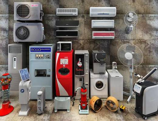 风扇, 空凋, 饮水机, 洗衣机