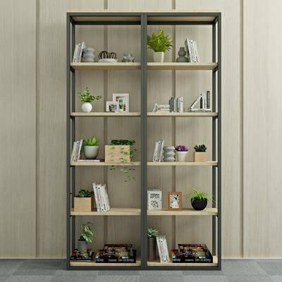 书柜, 书架, 装饰柜, 摆件, 装饰品, 陈设品, 现代