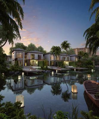 现代别墅酒店, 度假村