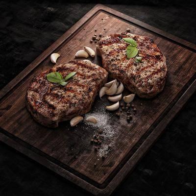 食物, 牛排, 肉类, 端盘, 现代