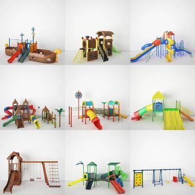 滑梯, 城堡, 玩具