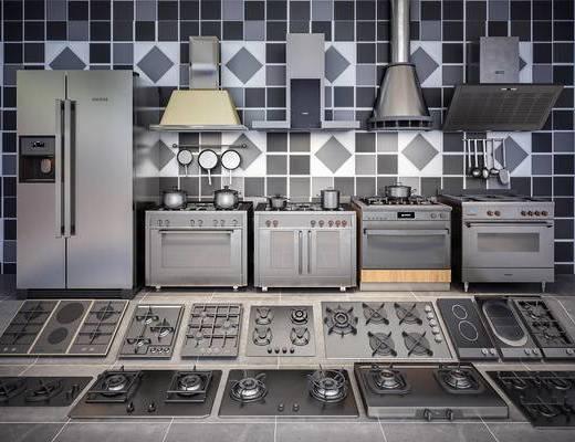 厨房电器, 冰箱, 烤箱, 灶具, 抽油烟机