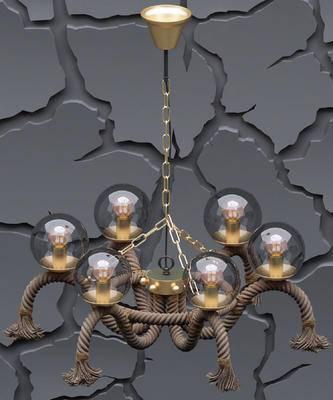 工业风吊灯, 麻绳吊灯, 金属吊灯