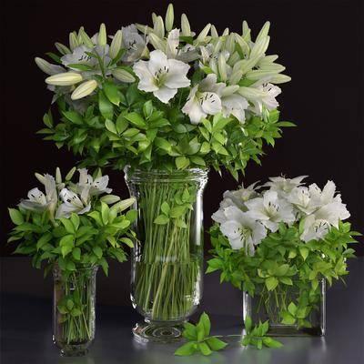 花卉花瓶, 花瓶组合, 现代