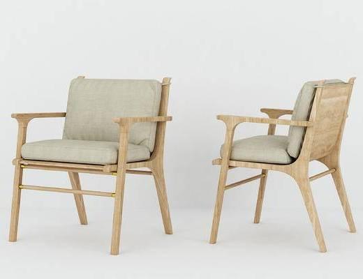 现代, 单椅, 休闲椅