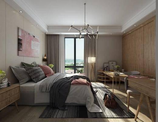 现代卧室, 北欧卧室, 卧室
