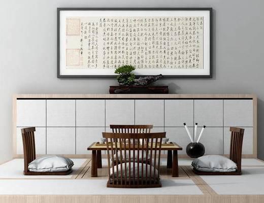榻榻米, 日式, 中式, 书房, 茶室