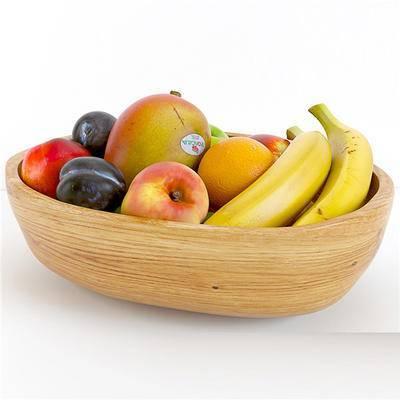 现代水果, 水果, 香蕉, 李子, 桃子