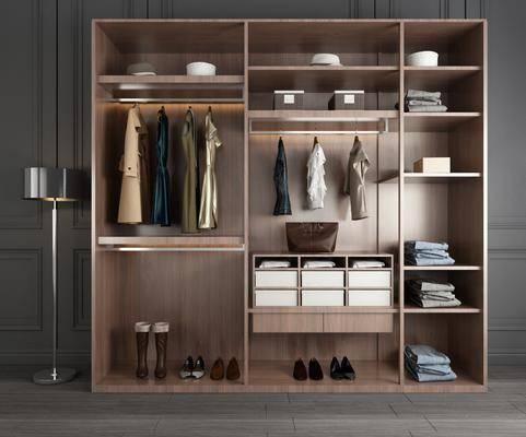 衣柜, 服饰, 装饰柜, 落地灯, 现代轻奢