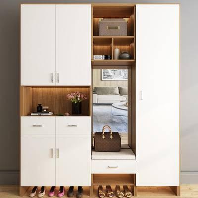 鞋柜, 现代, 衣柜, 置物柜