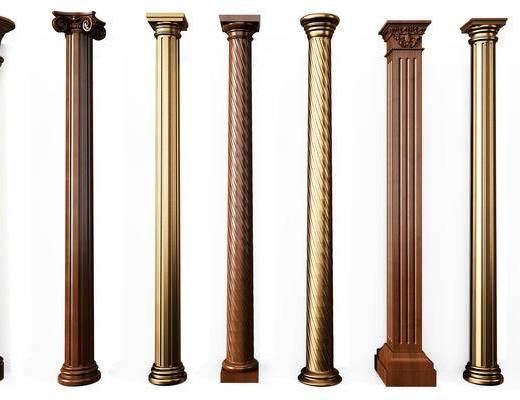 罗马柱, 柱子