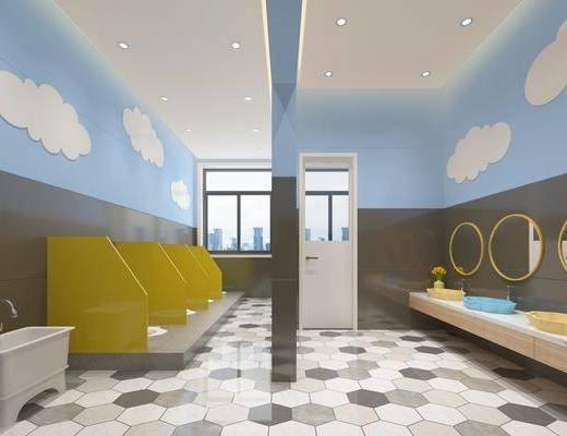 卫生间, 卫浴组合, 洗手盆