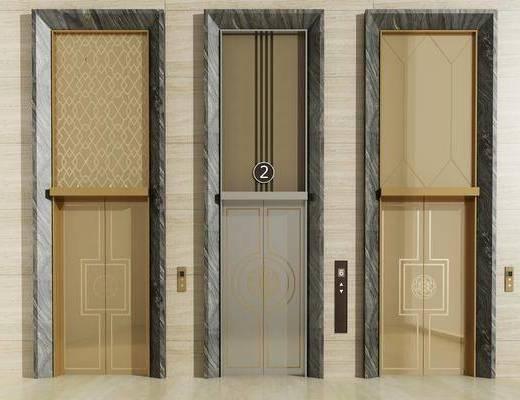新中式电梯, 电梯, 电梯门