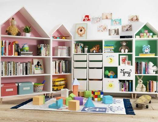 现代风格玩具柜