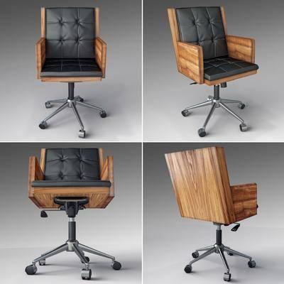 单人椅, 轮滑椅, 办公椅, 皮革椅, 现代