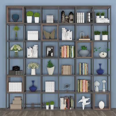 装饰柜, 绿植, 装饰品, 置物架, 陈设品, 摆件