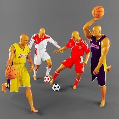 服饰, 足球, 篮球, 模特, 男人, 现代