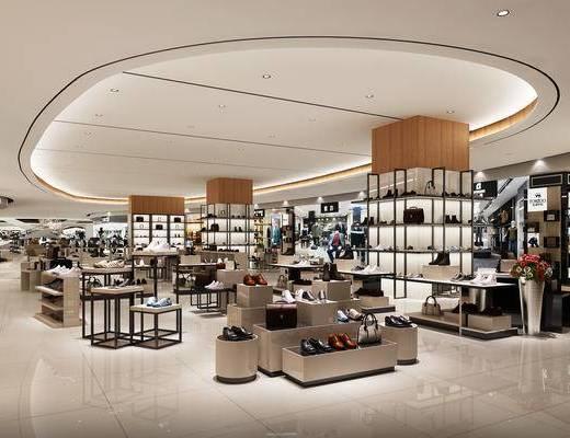 商场, 男装店, 鞋子, 服饰