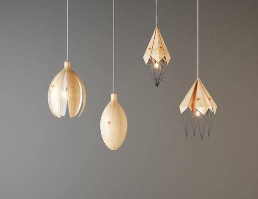 花瓣形, 吊灯, 灯具