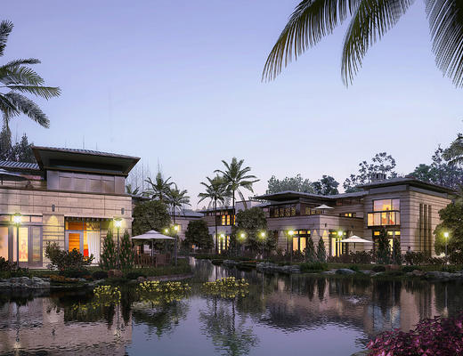 别墅, 室外, 室外空间, 建筑群, 现代