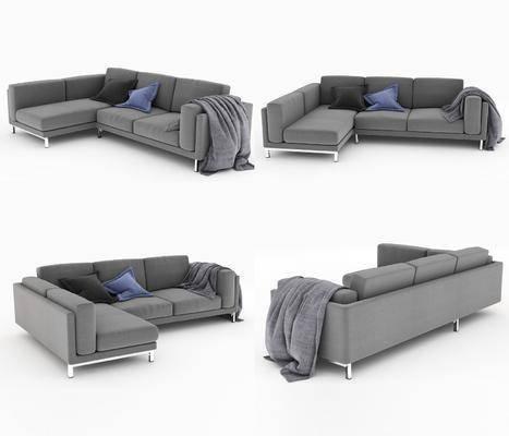 现代, 布艺沙发, 转角沙发, 现代沙发, 沙发, 纯色沙发, 简约沙发, 现代简约, 沙发组合