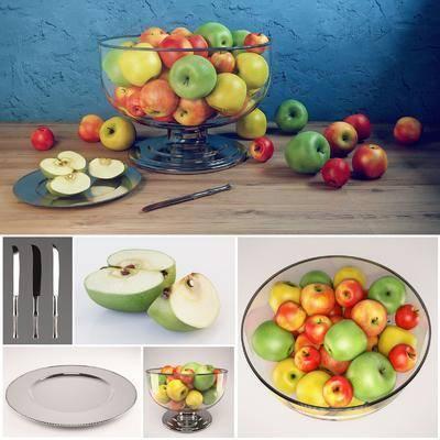 水果, 器皿, 餐刀, 组合, 现代