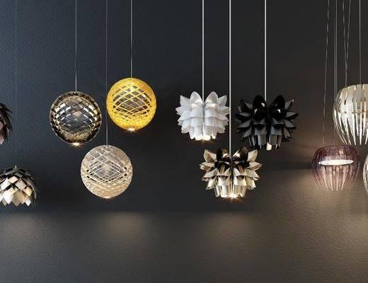 吊燈, 吊燈組合, 燈具