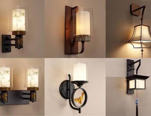 新中式, 壁灯, 灯具组合