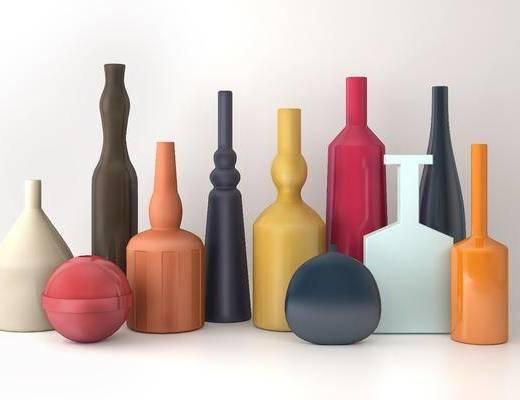 陶瓷器皿, 摆件, 现代陶瓷器皿, 现代摆件, 瓶子, 现代, 双十一