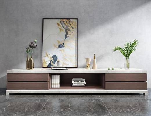 新中式实木简约电视柜