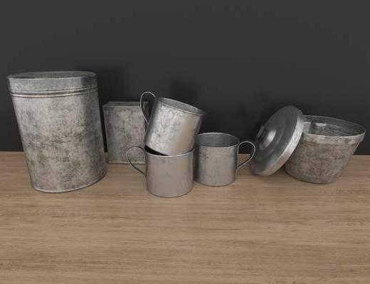 陶瓷, 器皿, 摆件组合