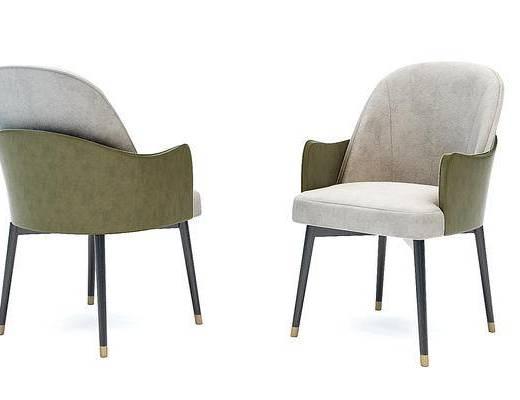现代布艺单椅