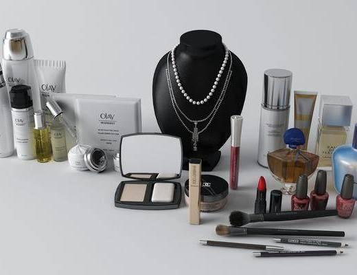 化妆品, 摆件组合, 护肤品