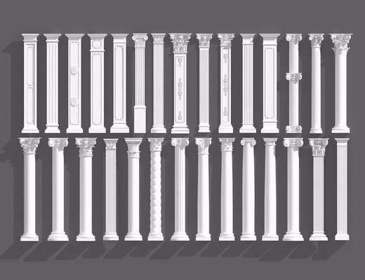 罗马柱组合, 柱子, 欧式