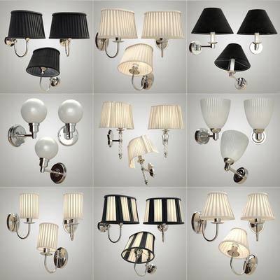 现代壁灯灯具组合, 现代, 壁灯, 现代壁灯
