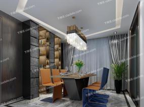 餐厅, 现代, 人字拼花理石, 现代餐厅, 餐桌椅, 桌椅组合, 柜