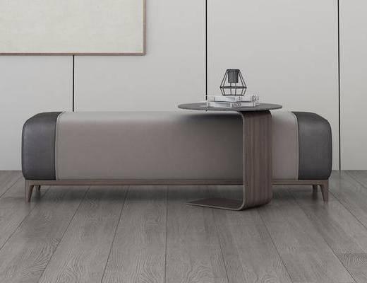 休闲沙发凳, 沙发脚踏, 摆件组合, 现代