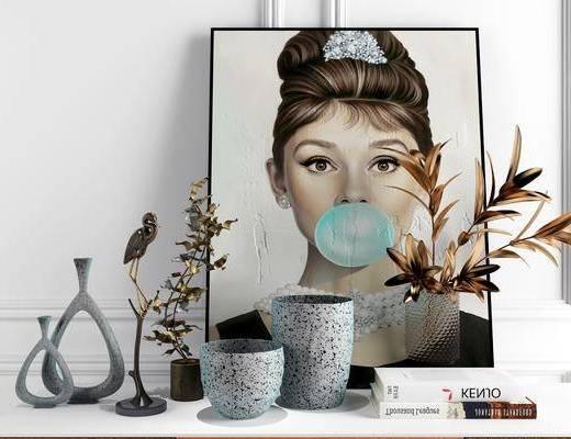 摆件组合, 陶瓷, 器皿